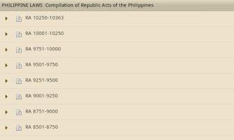 Screenshot of Philippine Laws - Vol. 2
