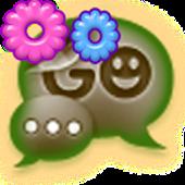 GO SMS - Vintage Flower
