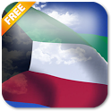 3D Kuwait Flag Live Wallpaper icon