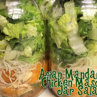 Asian Mandarin Chicken Mason Jar Salad.
