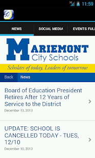 Mariemont School District - screenshot thumbnail