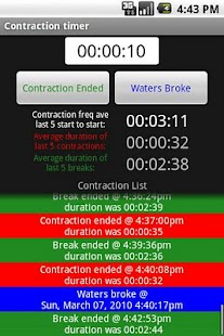 Pregnancy Contraction Timer- screenshot thumbnail