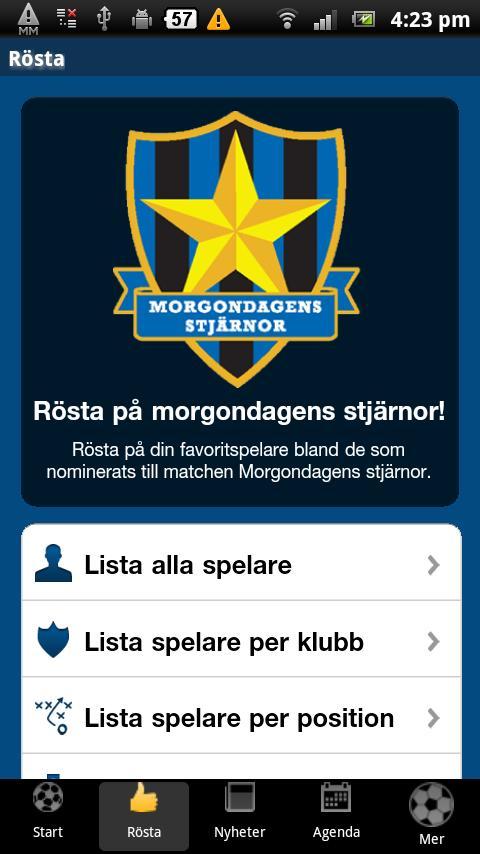 Morgondagens Stjärnor- screenshot