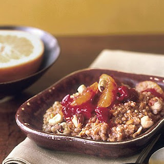 Multigrain Hot Cereal with Cranberries and Oranges
