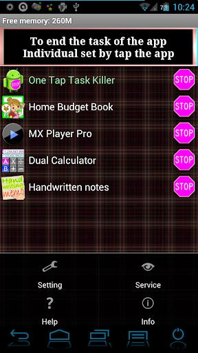 One Tap Task Killer