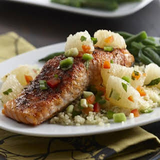 Sweet and Spicy Salmon with Grapefruit Salsa.