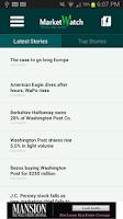 Screenshot of MarketWatch