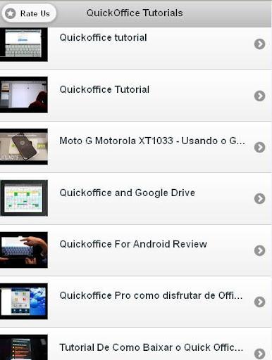 QuickOffice Tutorials