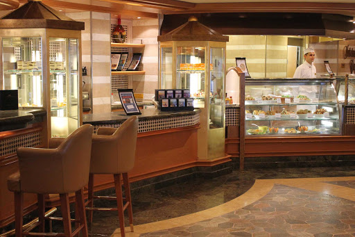 Emerald-Princess-International-Cafe - International Cafe, ideal for lunchtime snacks and cakes, on your Emerald Princess cruise.