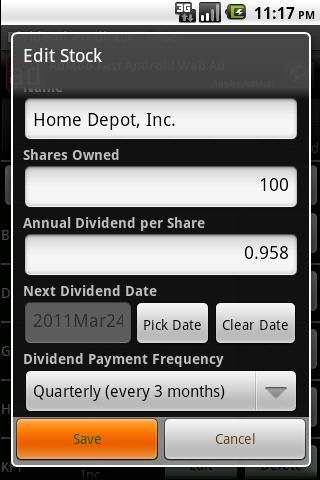 Dividend Predictor - Free- screenshot