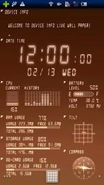 Device Info Ex Live Wallpaper Screenshot 4