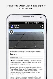 WHSV News- screenshot thumbnail