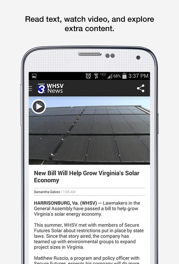 WHSV News- screenshot