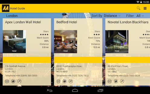 AA Hotel Guide- screenshot thumbnail