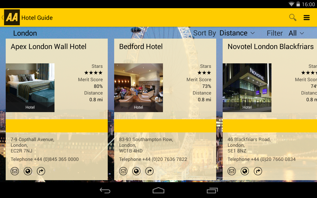 AA Hotel Guide- screenshot