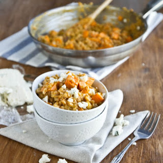 Sweet Potato and Gorgonzola Farro Risotto.