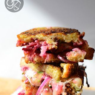 Balsamic Pickled Beet & Basil Grilled Cheese