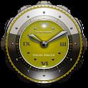 イエロー ドラゴン時計ウィジェット icon