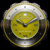 Dragon Clock Widget yellow