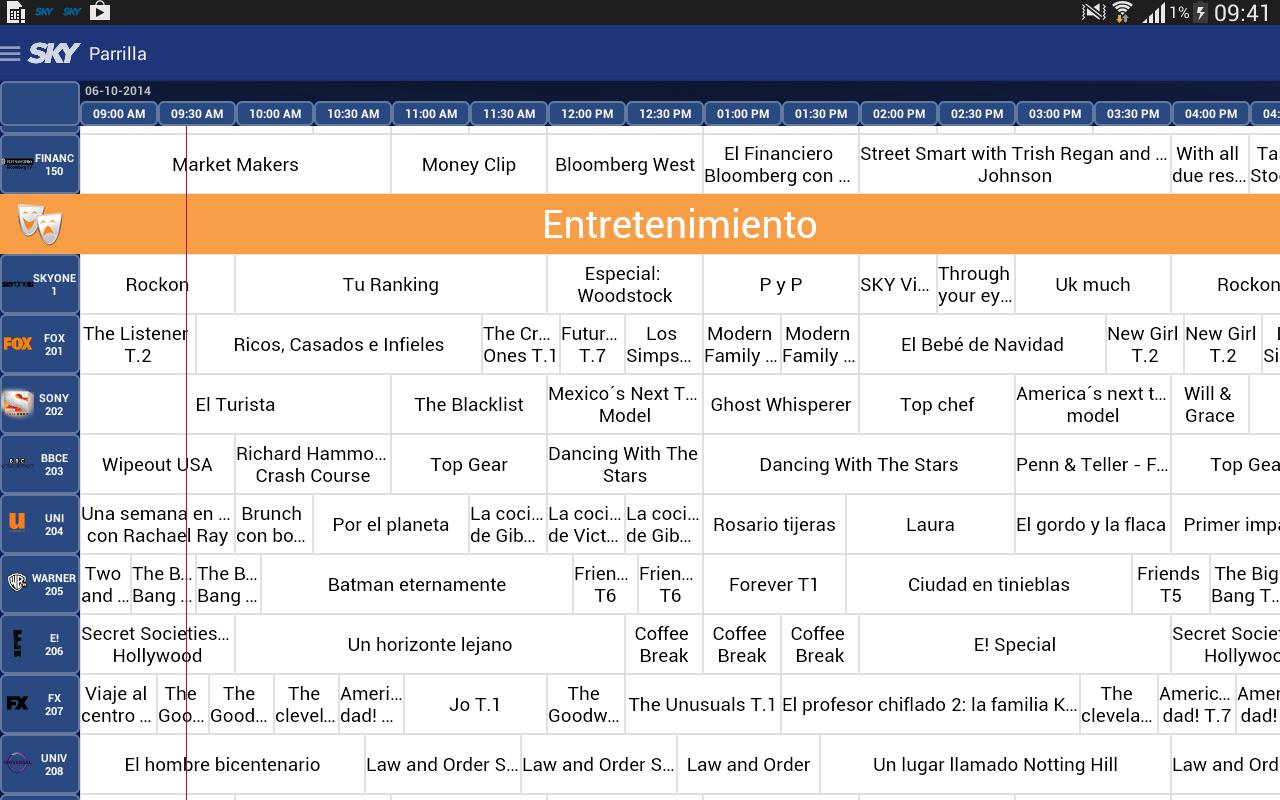 Guía SKY - screenshot