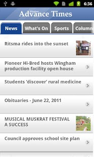 Wingham Advance-Times - screenshot thumbnail