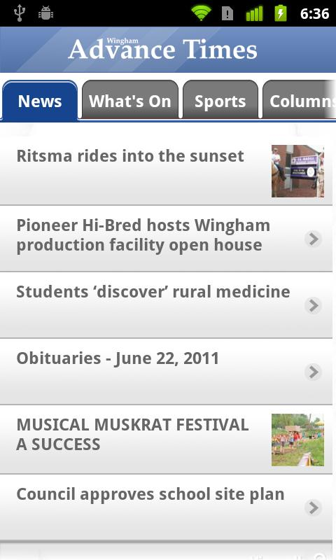 Wingham Advance-Times - screenshot