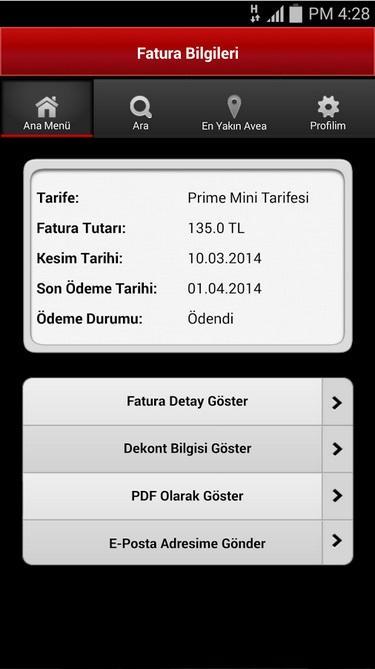Avea Online İşlemler - screenshot