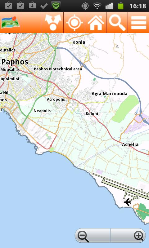Cyprus Offline mappa Map- screenshot