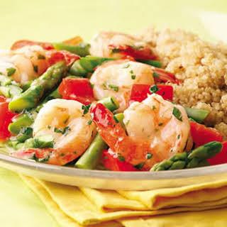 Lemon-Garlic Shrimp & Vegetables.