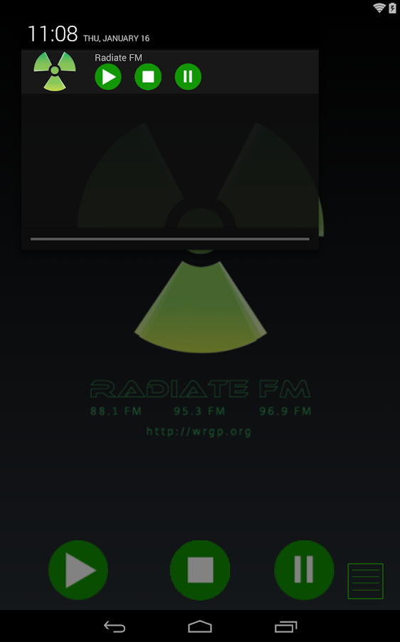 Radiate FM - screenshot