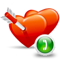 a Love Call Plus (aQuickCall) logo