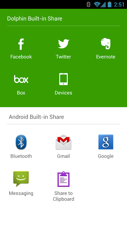 Dolphin Browser - screenshot