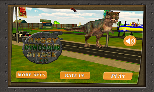 Angry Dinosaur City Attack 3D