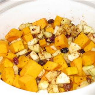 Savory Slow Cooker Squash and Apple Dish.