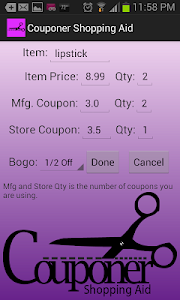 Couponer Shopping Aid screenshot 3