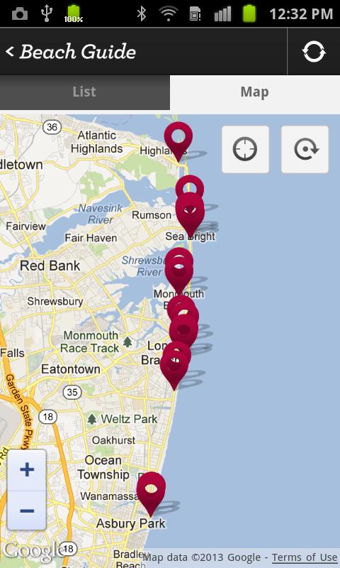 Jersey Shore Beach Guide - screenshot