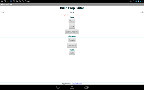 Build Prop Editor - screenshot thumbnail