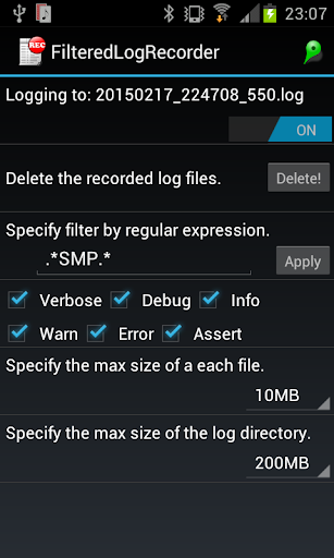 Filtered Log Recorder