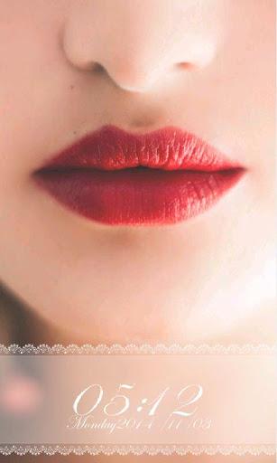 性感紅唇鎖屏