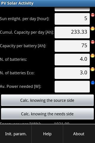 PV Solar Calculator- screenshot