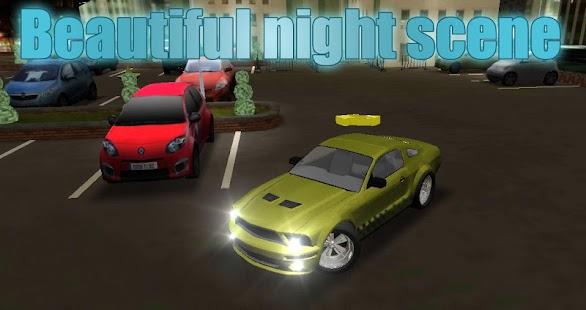 晚上汽車城停車場3D - New Parking Game