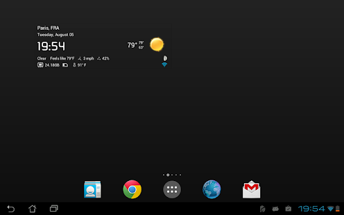 Transparent clock & weather Screenshot 18