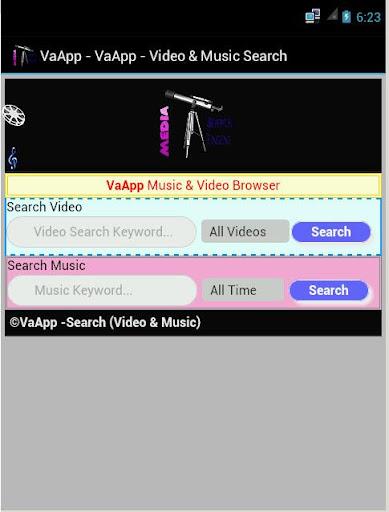 VaApp - Music Video Search