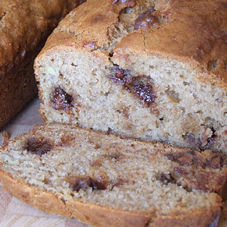 Peanut Butter- Chocolate Chip Banana Bread