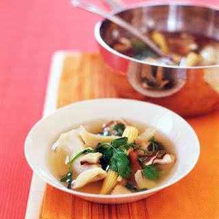 Asian Dumpling Soup.