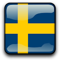 Sweden Flag Clock Widget icon