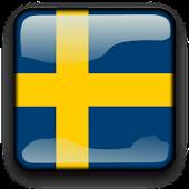 Sweden Flag Clock Widget