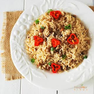 Authentic Jamaican Rice & Peas (Gluten Free).
