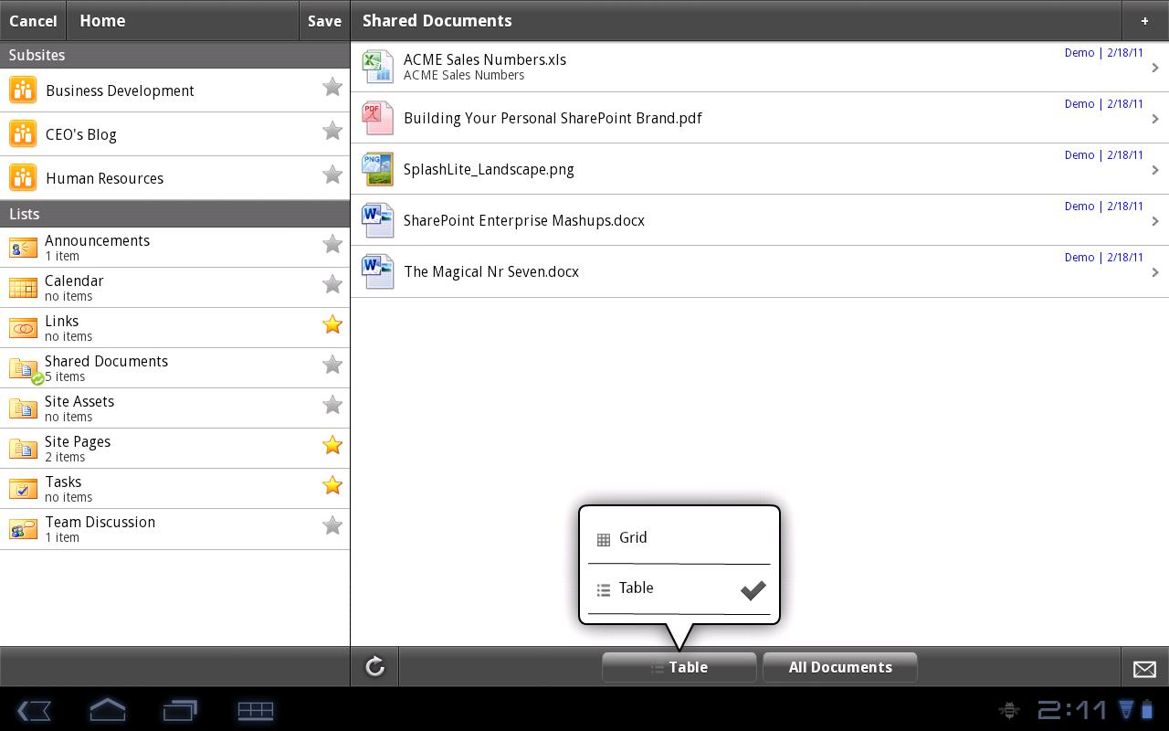 SharePlus - SharePoint Client - screenshot