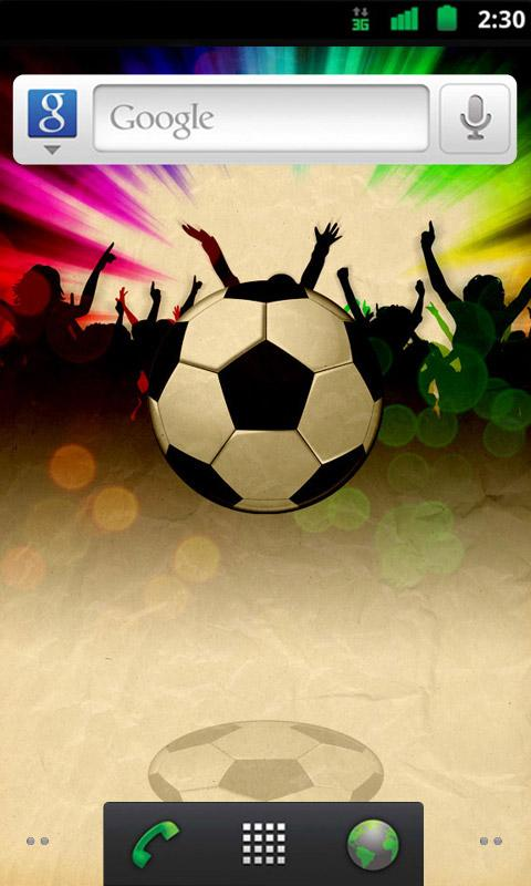 Bouncy Football Live Wallpaper - screenshot